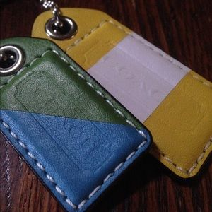 Authentic Coach keychain 2 tags